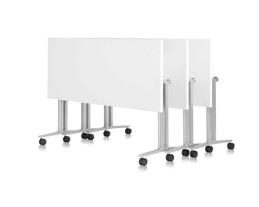 White Nested Flip-Top Everywhere Tables