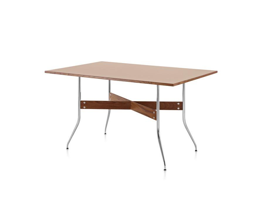 rectangular Nelson Swag Leg Table viewed at angle