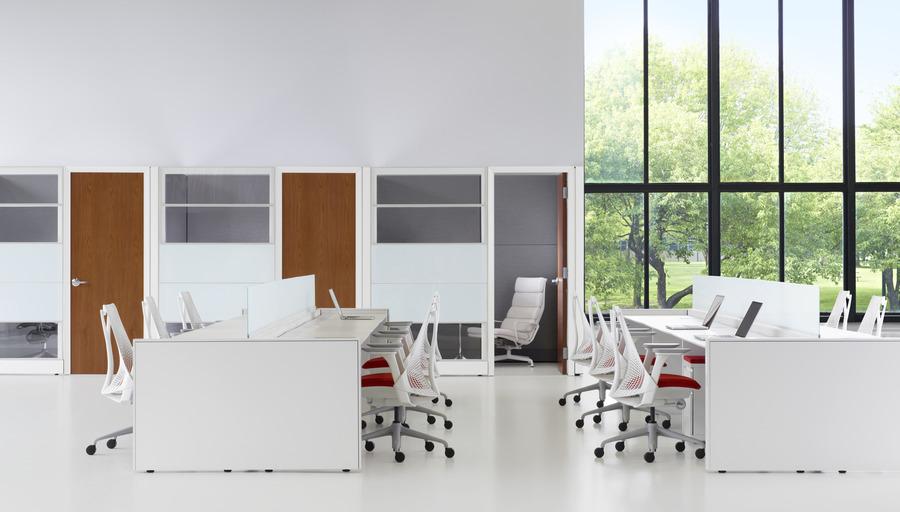 Herman Miller Ethospace System office setup