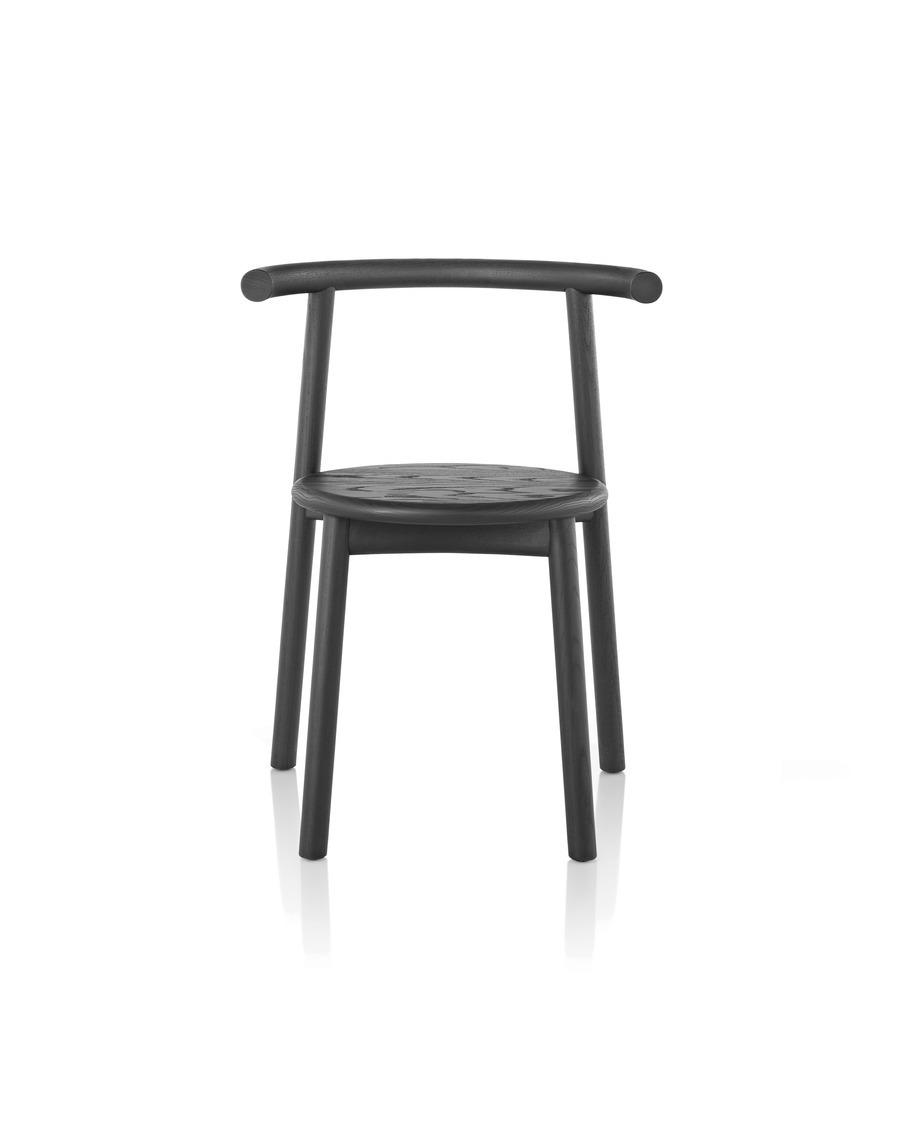 Front view of black Mattiazzi Solo Chair