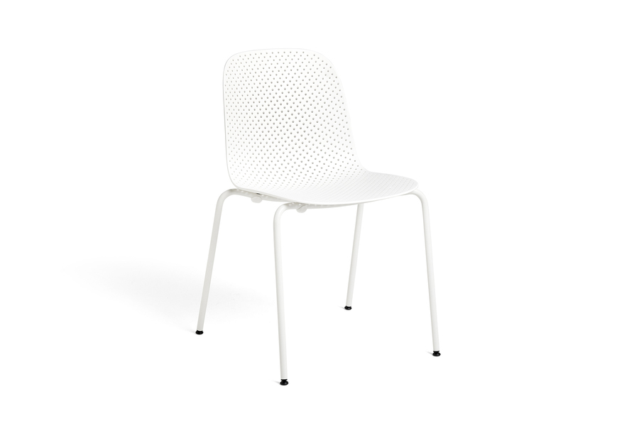 White 13Eighty Chair viewed from a 45 degree angle