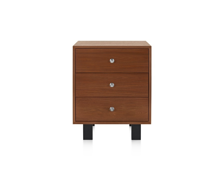 Front view of Nelson Basic Cabinet in light brown walnut.