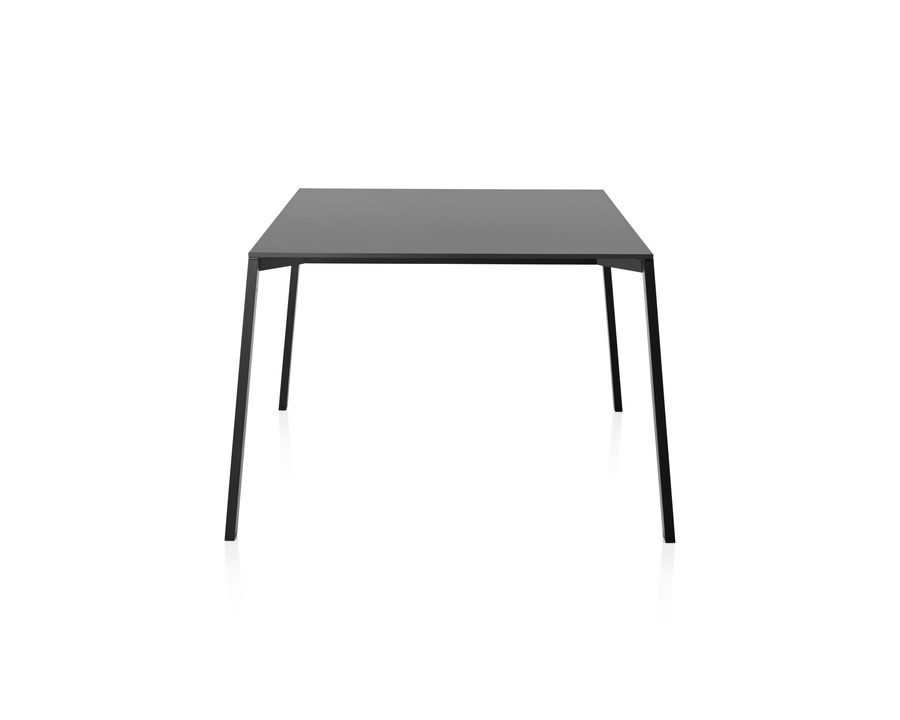 A black Magis Table_One Outdoor with a square top