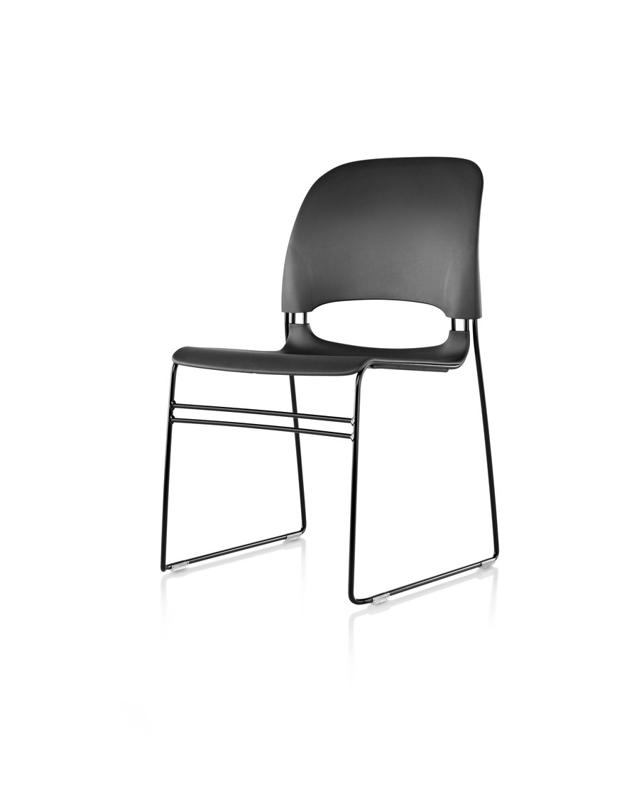Black Limerick chair, viewed at 45 degree angle