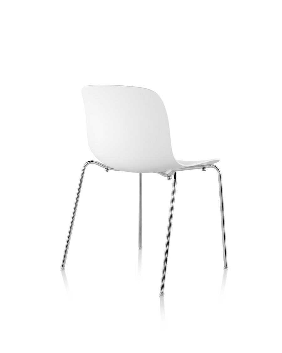 Rear view of a white Magis Troy Plastic Chair