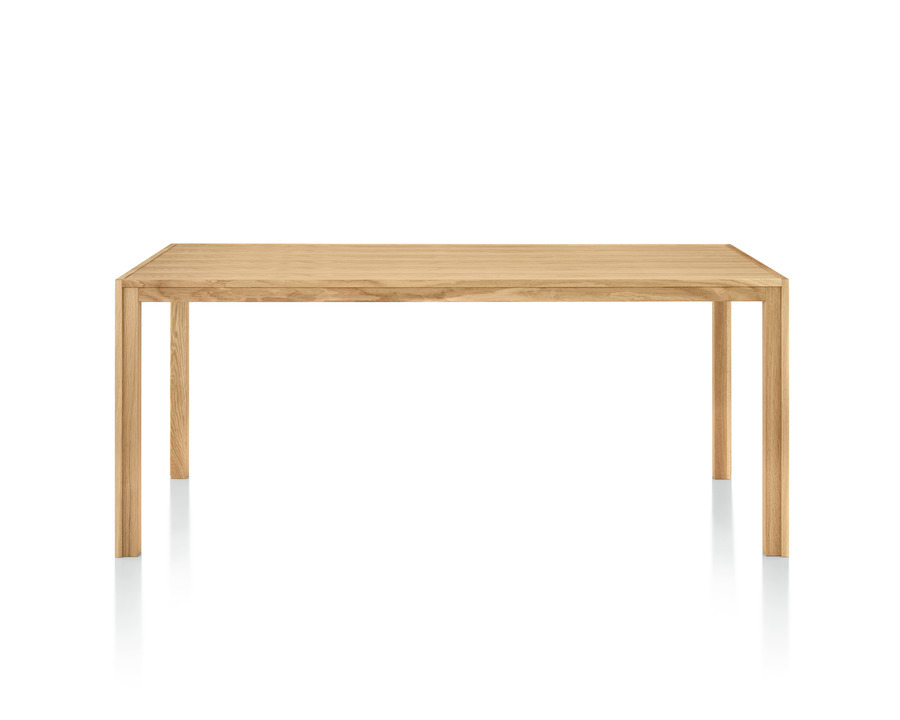 Doubleframe oak table viewed from the front