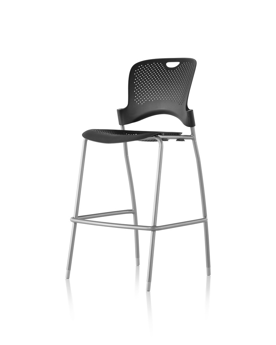 Black Caper Stacking Stool angled profile