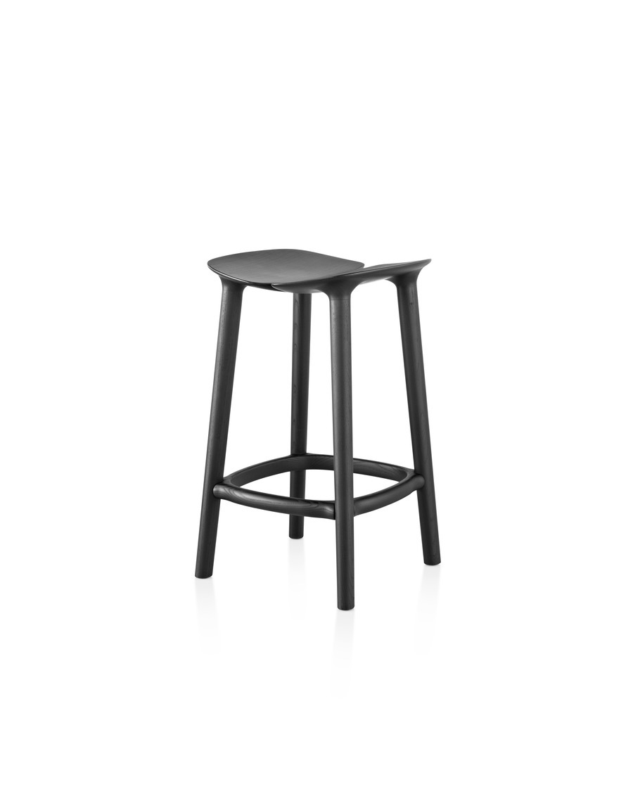 Tall black Mattiazzi Osso Stool viewed from the side