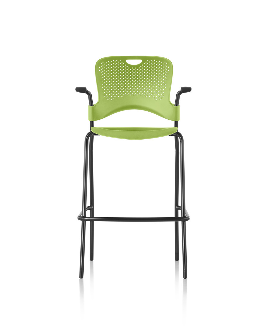 Green Caper Stacking Stool front profile