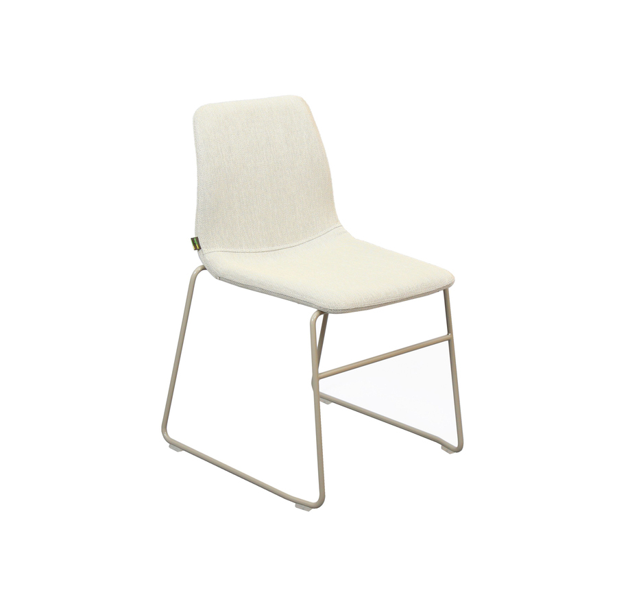 An off-white upholstered naughtone Viv Side Chair, viewed at an angle.