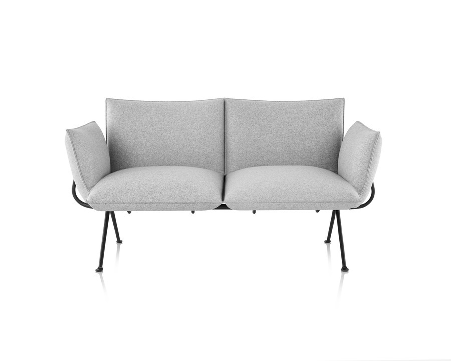 Magis Officina Sofa in Divina Melange, viewed from the front.