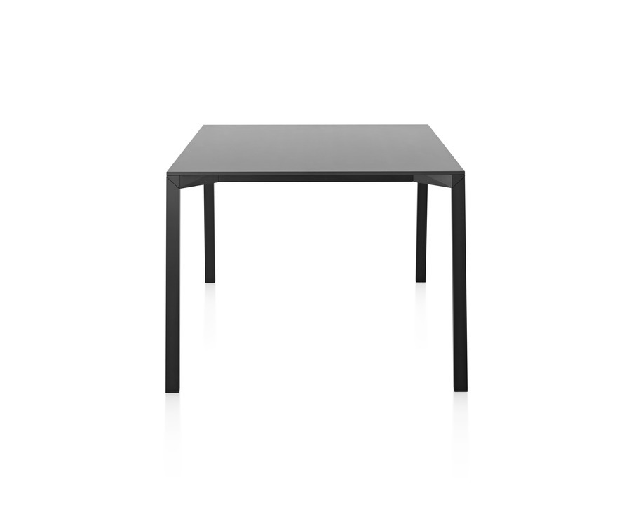 A black Magis Table_One outdoor table black with a square top