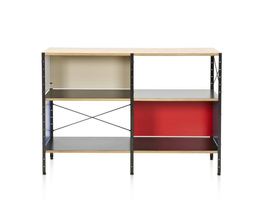 Eames Storage Unit, colored finish with black frame