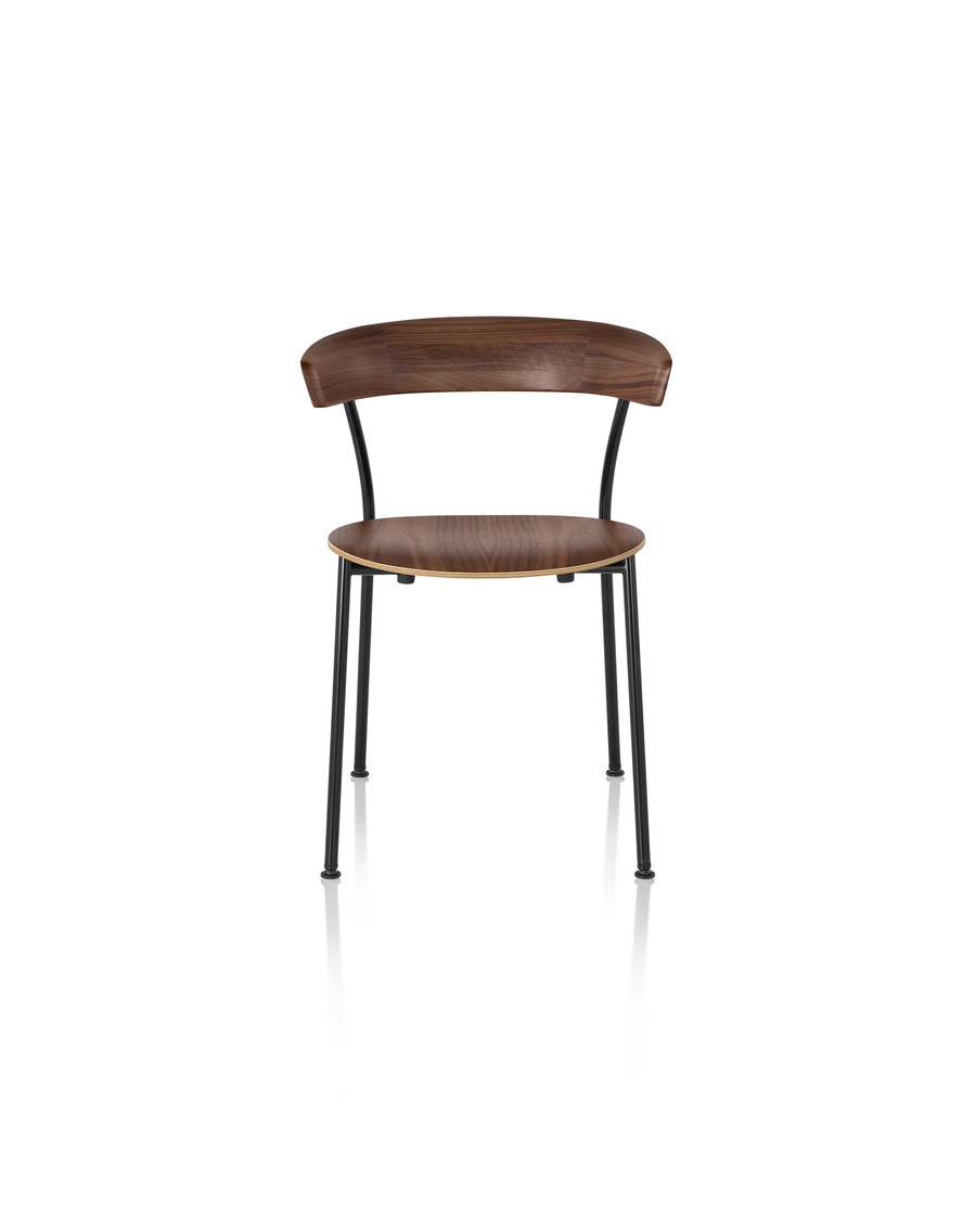 Walnut Leeway Chair viewed from the front
