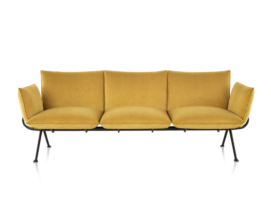 Magis Officina Sofa in glamour azimut, viewed from the front.