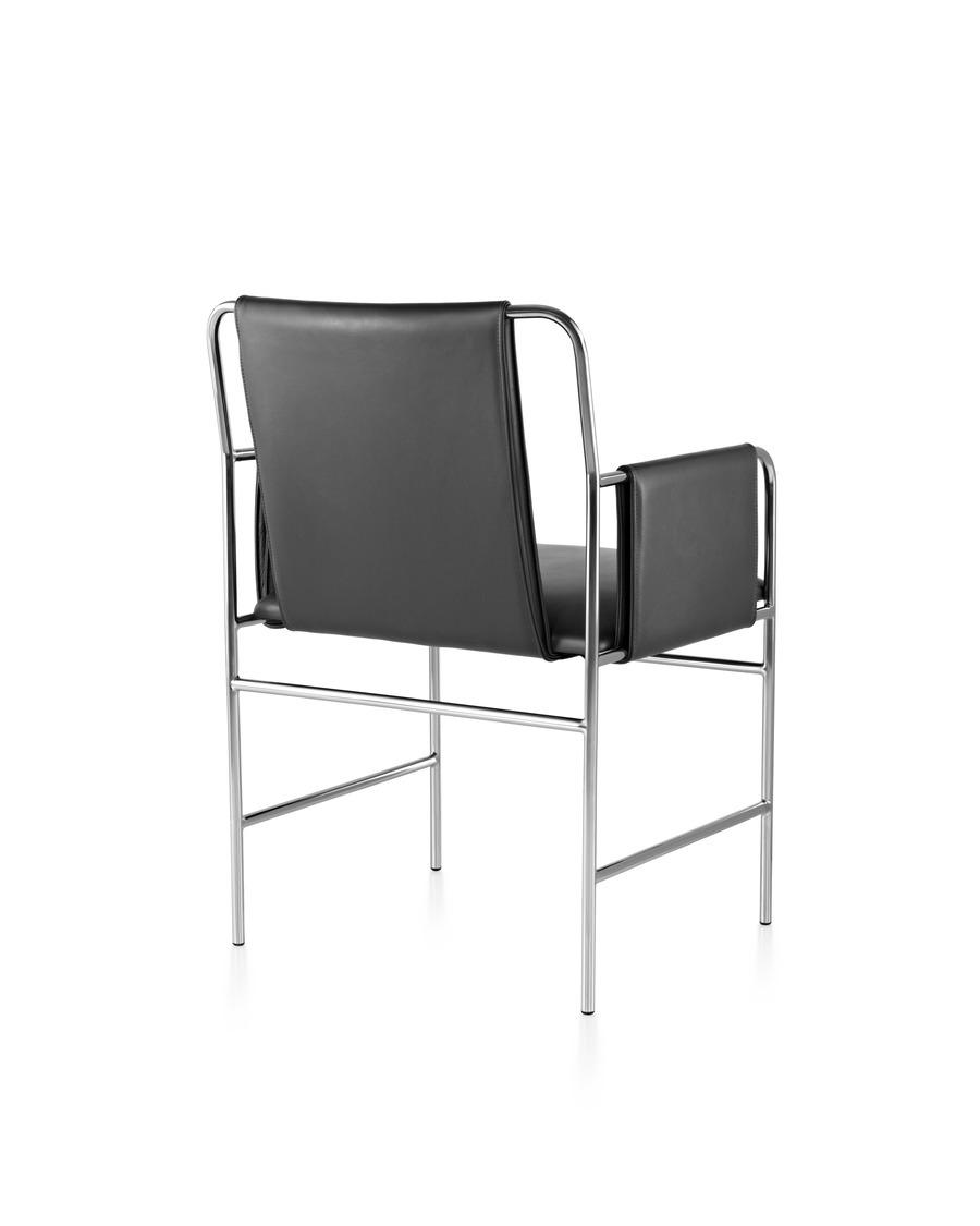 Rear view of black Envelope chair
