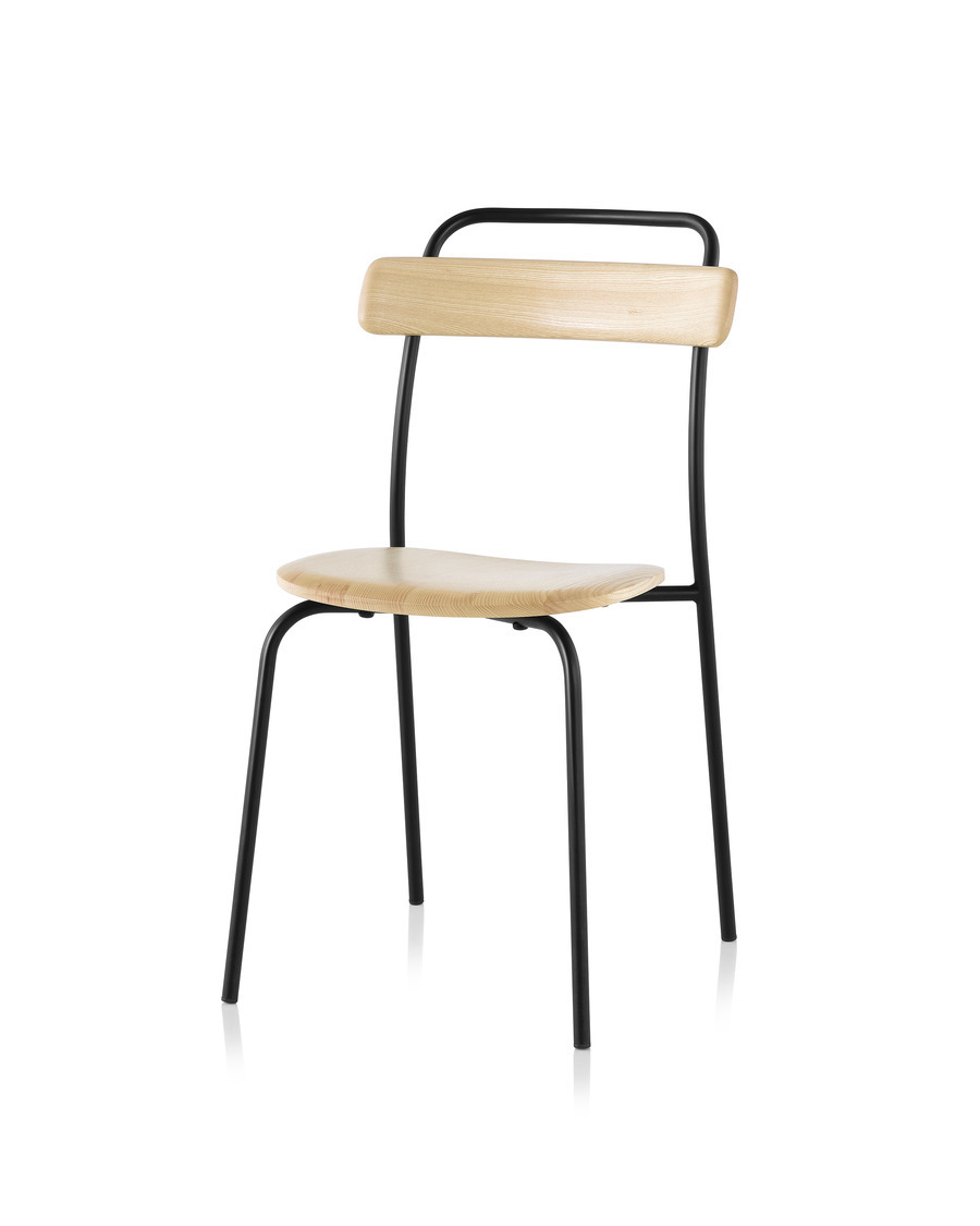 The Mattiazzi Forcina Chair takes inspiration from the curvilinear form of a traditional café chair.