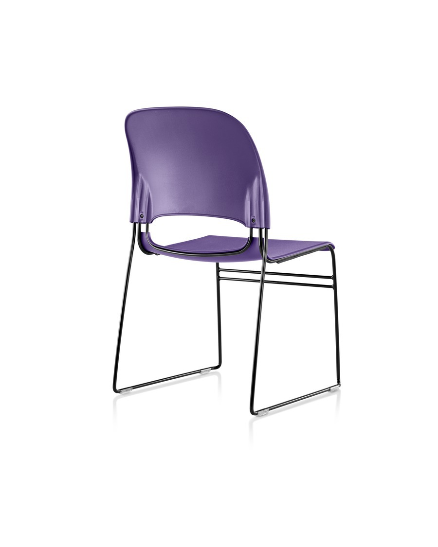 Purple Limerick chair with black base, viewed from the rear