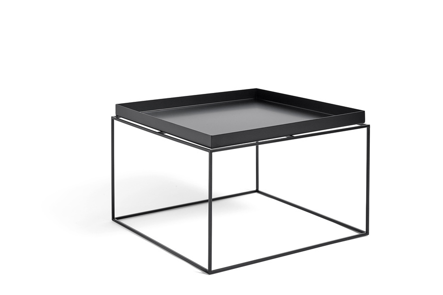Black Tray Coffee Table, viewed at an angle.