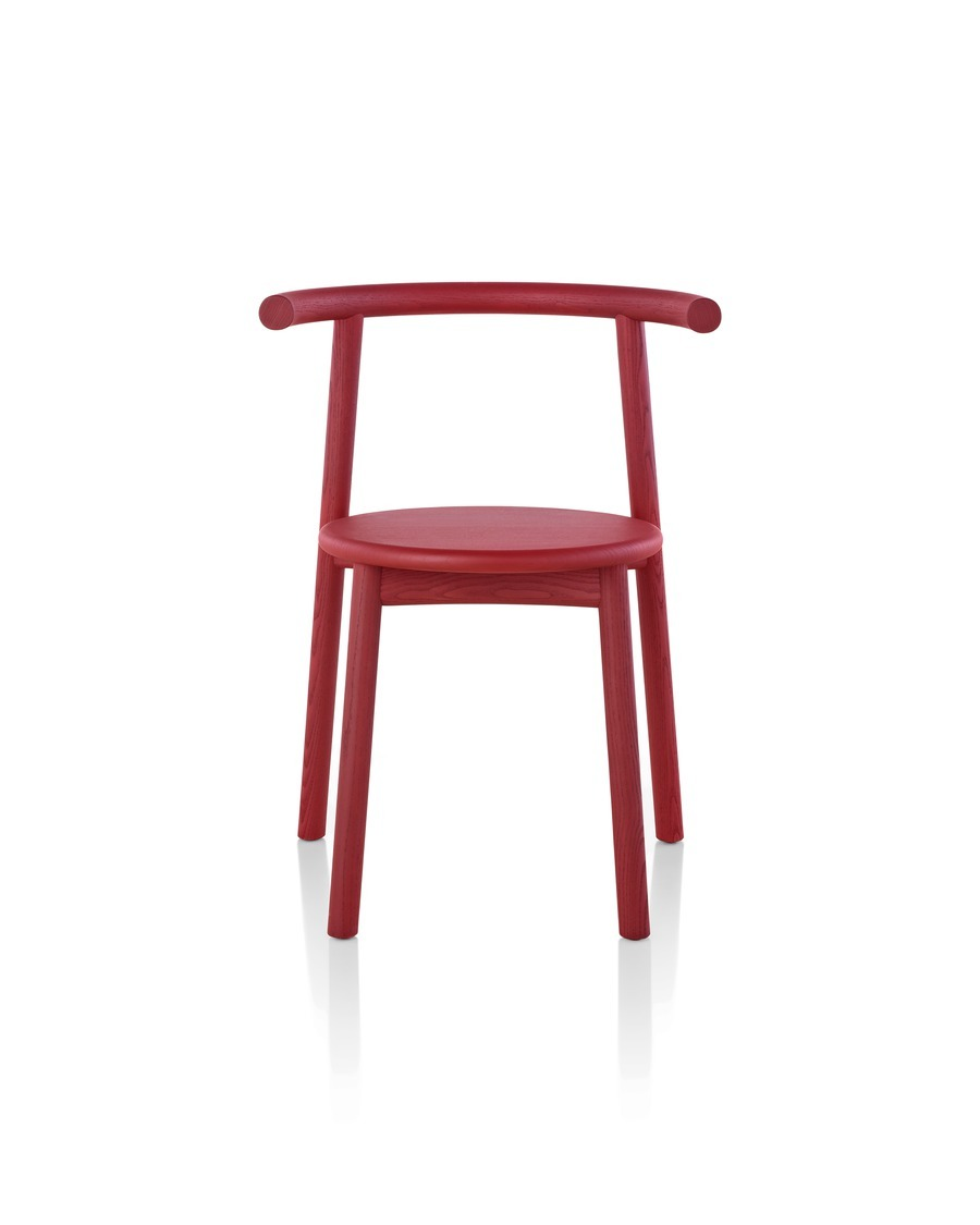 Front view of red Mattiazzi Solo Chair
